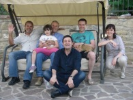 Chicco, Gianni, Marusca, Alice, Renato Bianchi with guest drom Australia and Germany