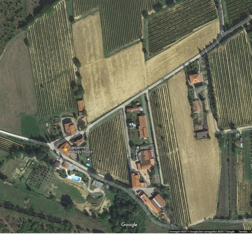 Plowed land before planting the vineyard - Cappannelle April 2017 Google Map