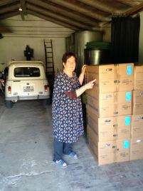 Graziella and the Boxes of Marchi & Volpe with Vine Trees